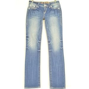 Rock Revival jeans 27 x 34 Laura Straight flap bac